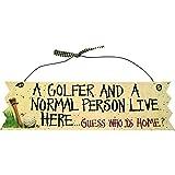 Longridge - Letrero decorativo con texto en inglés sobre golf