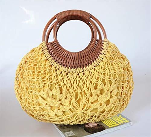 Strandtaschen Bali Island Straw Bag Handgewebte Tasche Spezielle Pop Straw Crochet Jacquard Tasche 1