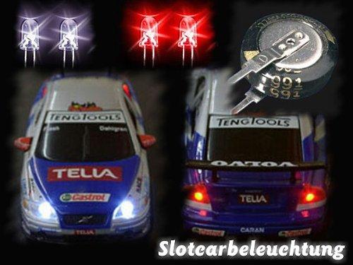 Dauerbeleuchtung Tuning Bausatz Slotcars Carrera GO Autos mit Licht Carrera Digital 143 Autos mit Licht