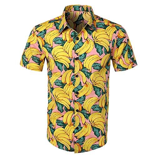 Luckycat Funky Hawaiihemd | Herren | Kurzarm | Front-Tasche | Hawaii-Print | Strand Palmen Meer Funky Hawaiihemd | Herren | Kurzarm | Fronttasche | Hawaii-Print | Verschiedene Designs -