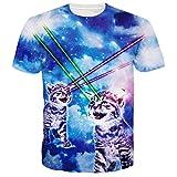 Best Lasers Cat - Leapparel Unisex Galaxy Laser Cat Imprim¨¦ Hip Hop Review