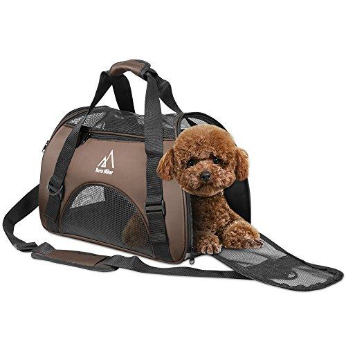 Hundetasche, Terra Hiker Hundetragetasche, Katzentragetasche, Tragetasche Transporttasche Transportbox für Kleine Hunde und Katzen, Meistens 5 KG