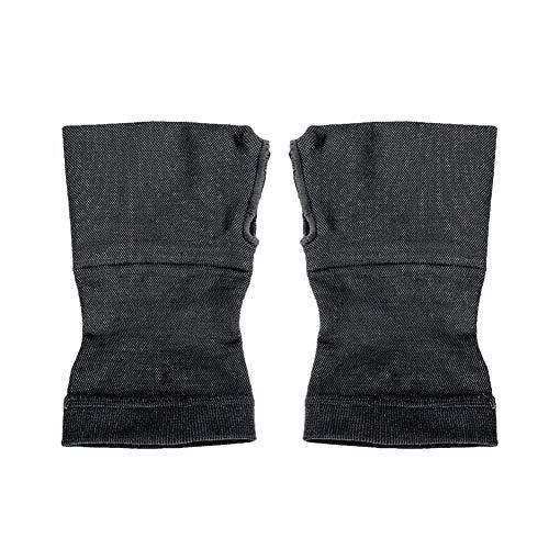 Everpert 1 Paar Wrist Support Sport Armbänder Hand Wraps Guards für Gym Basketball (Schwarz, S)