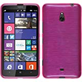 PhoneNatic Custodia per Nokia Lumia 1320 Cover rosa caldo brushed Nokia Lumia 1320 in silicone + pellicola protettiva