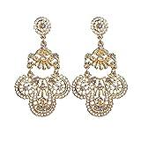 QIANZHIHEA Pendientes Pendientes De Diamantes De Imitación De Estilo Bohemio para Mujer Retro Tótem Hueco Regalo De Joyería