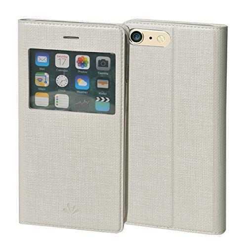 MEIRISHUN Apple iPhone 6/ 6s Case,Portafoglio PU Pelle Magnetico Stand Morbido Silicone Flip Bumper Protettivo Gomma Shell Borsa Custodie con Slot per Apple iPhone 6/ 6s - Nero Bianco