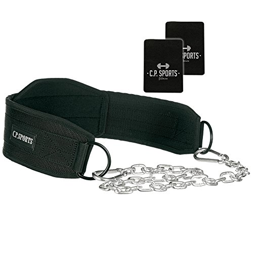 Dip Gürtel C.P. Sports Trainingsgürtel, Klimmzug - Gürtel, Dips, Bodybuilding + Griffpolster 6mm
