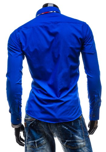 BOLF - Camicia classique – Multicolore - BOLF 4704 - Uomo Blu