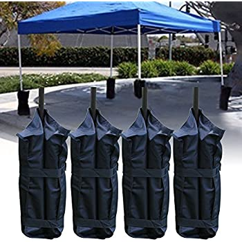 Set of 4 Gazebo Foot Leg Pole Large Sandbag Weight for Marquee Market Stall tents and Sun Shade Sand Bag & Set of 4 Gazebo Leg Weights For Gazebo Marquee Pavillion: Amazon ...
