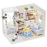 Cuteroom DIY Wooden Dollhouse Handmade Miniature Kit- Kitten Diary Model & all furniture