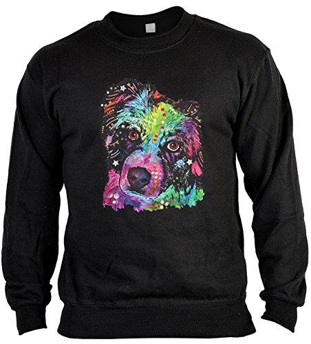 Pop Art Style Sweatshirt Neon Australian Shepherd Sweater 4 Heroes Geburtstag Geschenk geil bedruckt Australian Shepherd Sweatshirt