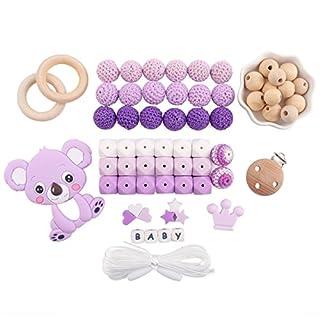 baby tete Baby Zahnen Zubehör Silikon Koala Anhänger DIY Handwerk Häkeln Perlen Lebensmittelqualität Dummy Clips Duschgeschenk
