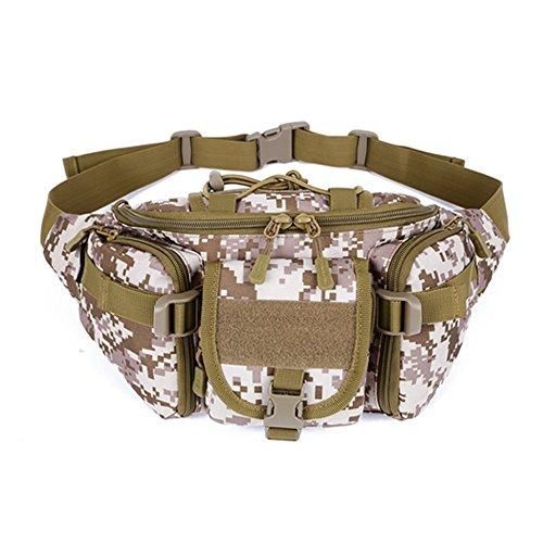 MORESAVE Marsupio immagazzinaggio Bum Bag Protector Plus pacchetto di Fanny escursionismo Viaggi grande esercito