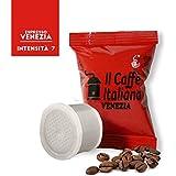 100 Cápsulas de Café compatibles Uno System sabor Café Venezia, 100 Cápsulas compatible con maquinas Uno System Paquete de 10x10 por un total de 100 Capsules, 100 cápsulas café molido,Il Caffè italiano