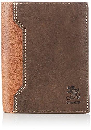 Otto Kern Natural Wallet OS-08 Unisex-Erwachsene Geldbörsen 20x12x2 cm (B x H x T), Braun (Brown/Black)