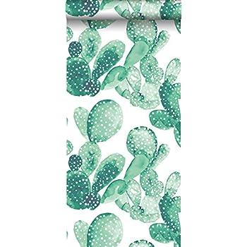 Papier Peint Intissé Haute Définition Cactus Peinte à Laquarelle