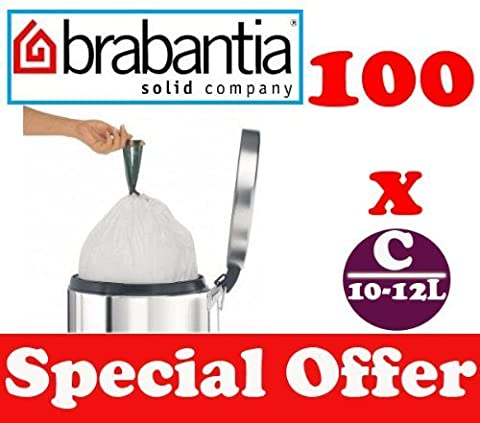 10-12L L Lot de 100 sacs poubelle Smartfix Barbantia de sacs poubelle Type C. 2. 2-2.6 Gal UK