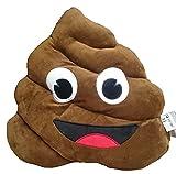 XL Emoji Emoticon Smilie Plüsch Kissen Poo, Kackhaufen, 45cm