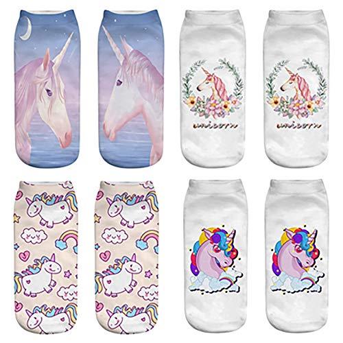 Calcetines de senderismo, señoras calcetines de algodón vestido calcetines transpirable sudoroso calcetines de unicornio significan código adecuado para caminar camping escalada 3 doble desgaste,G