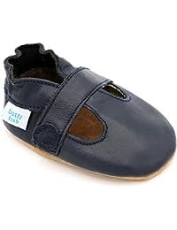 Chaussures cuir souple bébé - Dotty Fish - Garçons et Filles T-Bar