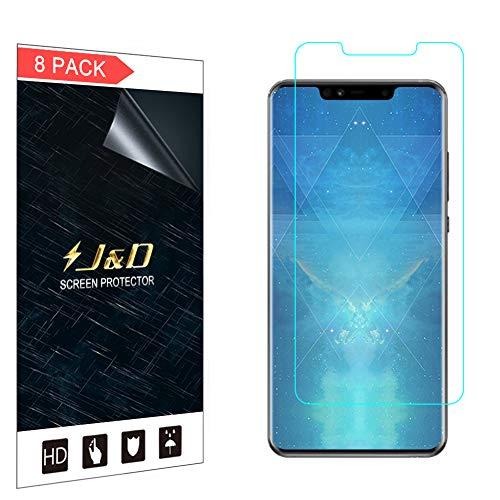 JD 8 Embalagem Tela Protetora Huawei Mate 20 PRO, [Cobertura Completa] Premium HD Protetor Película Protetora Clara para Huawei Companheiro 20 PRO