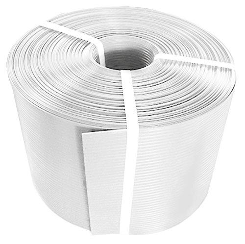 Thermoplast® ZAUNSICHTSCHUTZSTREIFEN, Sichtschutzblende, 19cm x 26m = 4,94m2, Weiß, 5 JAHRE Garantie