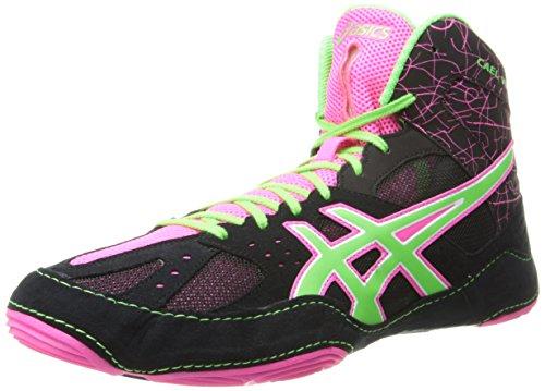Asics J401Y Cael v6.0–Scarpe da uomo Black/Green/Pink