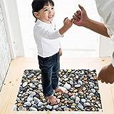 Xshuai 0cm * 70cm umweltfreundlicher Fußboden-Aufkleber entfernbarer Wandgemälde-Kopfstein-Abziehbilder Vinyl-Kunst-Wohnzimmer-Dekor (Mehrfarbig)