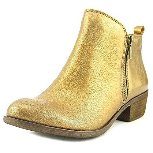 asel Pumps rund Leder Western Stiefel Gold Groesse 7 US /38 EU (Western Stiefel Für Frauen Größe 7)