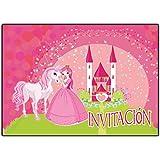 invitaciones cumpleaños Princesas infantil en español Princesa 12 tarjetas de invitación niña chicas