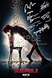 5 Star Prints Deadpool 2 Póster Foto 12 x 8 Firmado PP Ryan Reynolds, Josh Brolin, Zazie Beetz, Stan Lee, Morena Baccarin, Hugh Jackman autógrafo Impreso Coleccionable