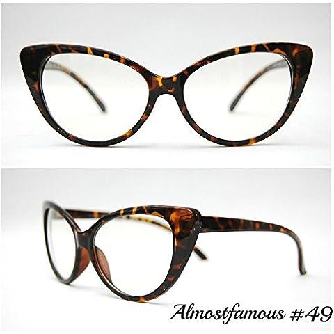 Rockabilly Occhi di gatto Tartaruga VTG 50s/60s da donna, stile occhi di gatto occhiali da sole occhiali retrò Rockabilly Vintage UK mondo Eye Wear