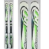 Skifahren Angebot Nordica Transfire 75 grün weiß + Befestigungen - 176 cm