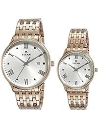 Titan Bandhan Analog Pink Dial Couple Watch - 9400194201WM01