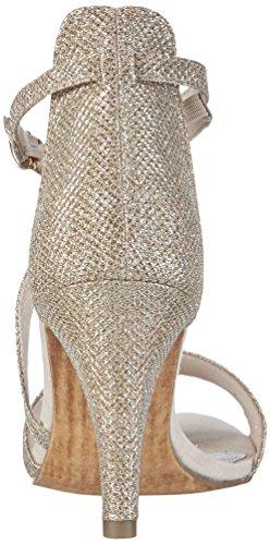 Marco Tozzi - 28316, Scarpe col tacco con cinturino a T Donna Argento (Silber (PLATINUM COMB 980))