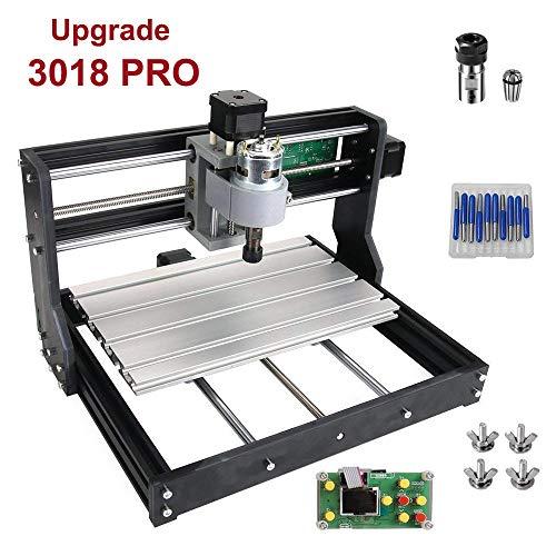 Upgrade Version (einfach zu installieren) CNC 3018 Pro GRBL Steuerung DIY Mini CNC Maschine, 3 Achsen PCB Fräsmaschine, Holz Router Stecher mit Offline Controller, mit ER11 und 5mm Verlängerungsstange