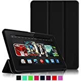 "Fintie Kindle Fire HDX 8.9 Slim Shell Case - Ultra Slim Lightweight Leather Standing Cover (will fit Amazon Kindle Fire HDX 8.9"" Tablet 2014 4th Generation and 2013 3rd Generation), Black"