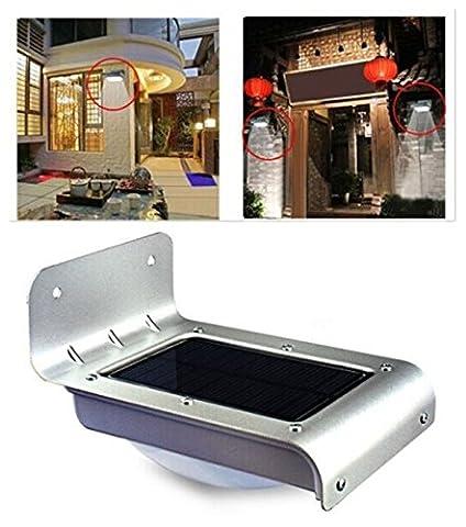Buibao 24 LED Solar Power Motion Sensor Garden Security Lamp Outdoor Waterproof Light
