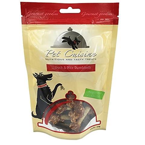 Pet Cuisine Hundeleckerli Hundesnacks Welpen Kausnacks, Ente & Reis Hantelförmige Kauknochen, 100g