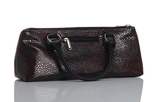 Ludi-vin 5060388471255sacchetto alta couture isotermico serpente bottiglia e cavatappi tessuto bordeaux 36,5x 9,5x 15,5cm set di 2