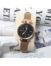 9e3afa051fa3 Watch Home Números Romanos de Superficie Estrellada con imán de Calendario  imán de Malla con Reloj