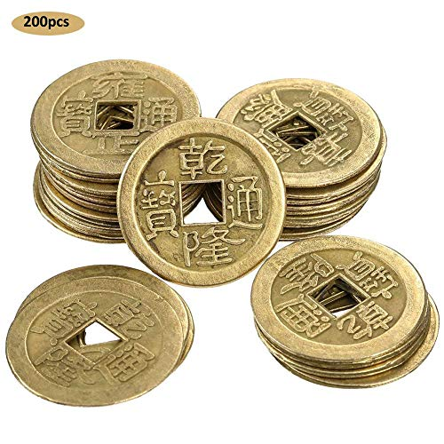 4ffccdfe5e Anivia 200 pezzi 2,5 cm Chinese fortune coins Feng Shui i-ching coins