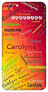 Carolyne (Little and Womanly Feminine Variant of Charles) Name & Sign Printed All over customize & Personalized!! Protective back cover for your Smart Phone : Apple iPhone 4/4S