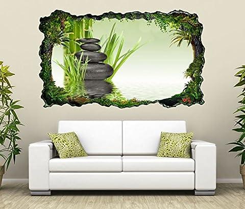 3D Wandtattoo Wellness Zen Steine Bambus Spa Bild selbstklebend Wandbild