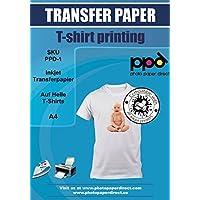 PPD A4 Papel de transferencia de inyección de tinta para camisetas de color claro- 10 hojas ppd-1-10N