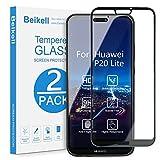 Beikell Verre Trempé Huawei P20 Lite, [Lot de 2] Couverture Complète Film Protection d'écran en Verre Trempé Film Protecteur Vitre-Dureté 9H, sans Bulles, Anti-Rayures, Ultra Transparent