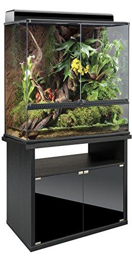 Exo Terra Terrarienkombi 90x45x60 Glasterrarium Inkl. Unterschrank, Terrarienbeleuchtungabdeckung - Terrarienkomplettset