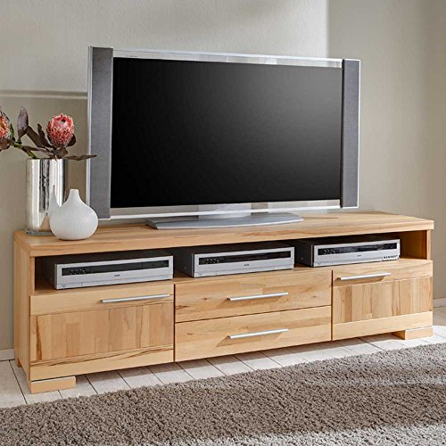 fernsehtisch kernbuche teilmassiv tv lowboard viviann. Black Bedroom Furniture Sets. Home Design Ideas