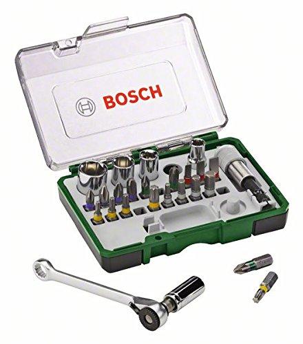 Bosch Rainbow Pro Set Avvitamento con Cricchetto, 27 Pezzi