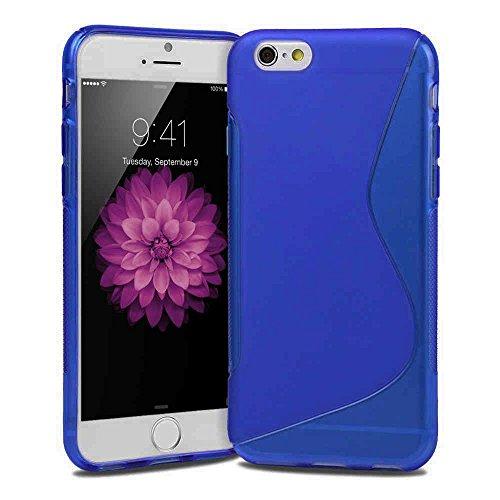 Slim S-LINE TPU Silikon Schutzhülle 14 cm (5,5 Zoll) für Apple iPhone 6 Plus Schale Vollfarbig rot Blau